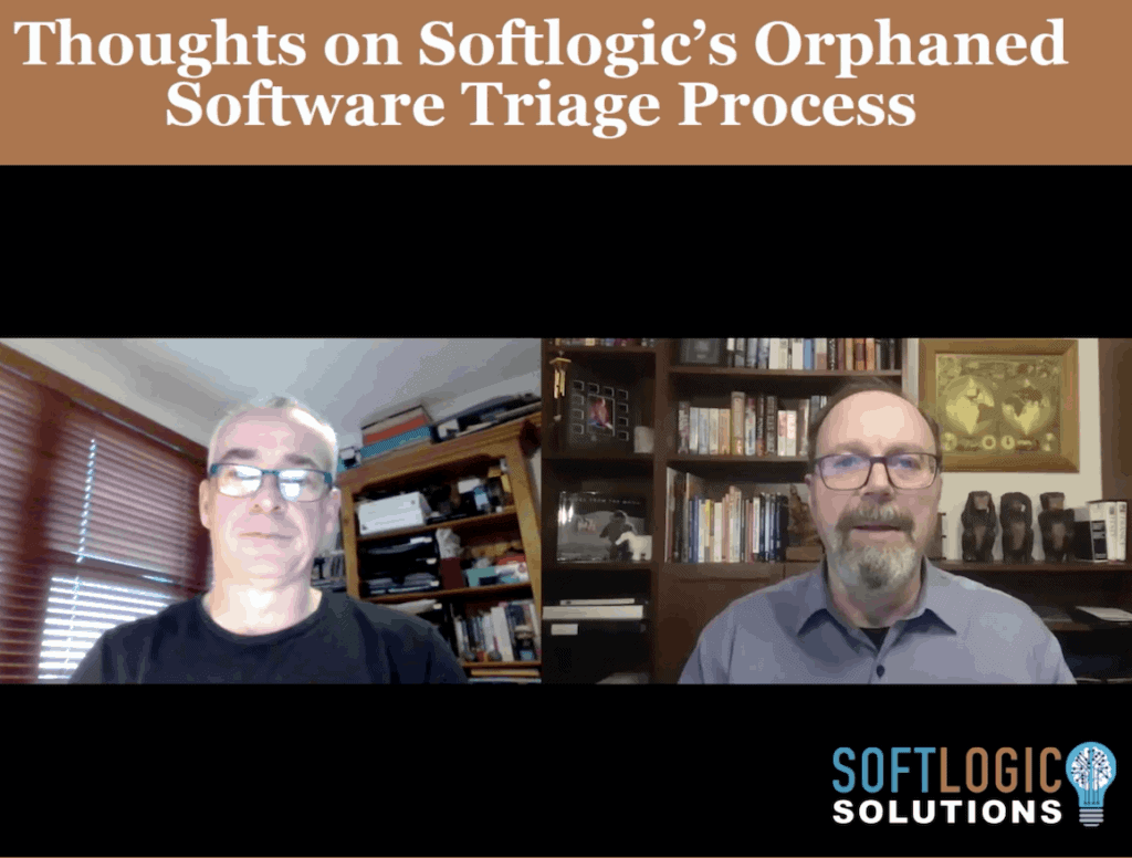 4. Graeme Perrins - Thoughts on the Softlogic Orphaned Software Triage process